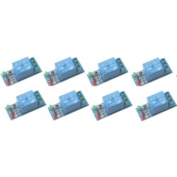 8 x 1-channel relay module for scm ,appliance control,single chip microcomputer 5v - 12v