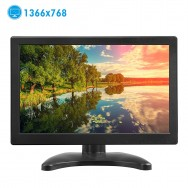 Monitor 12 Inches Portable Screen 1366 * 768 TFT LCD Color with HDMI / VGA / MIC for PC Camera Raspberry 160º