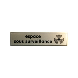 Label ''device under surveillance'', 140x35mm dissuasion labels label ''device under surveillance'' dissuasion labels ''device u