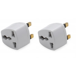 2 travel adapter electric adapter gb plug to european , 1a 250vac electric adapters gb plug to european , 1a 250vac electric ada
