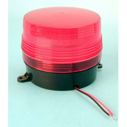 Flash 12vdc red xenon flash, ø100x80mm strobe light warning emergency lights strobe warning light systems for fire police emerge