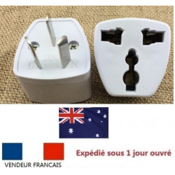Travel power adapter with earth to go in china and australia new zealand