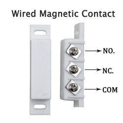Detector opening magnetic alarm surface mounting no nc magnetic contact, ivory alarm detector alarm sensor switches magnetic doo