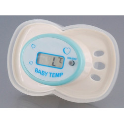 Thermometre medical tétine avec écran lcd bebe nourisson