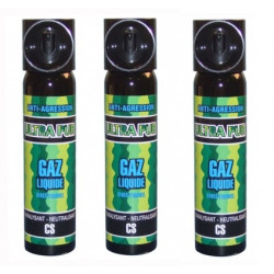 3 defensive spray paralising gas cs spray self defence, 2% 75ml lachrymatory bend tear gas bear spray cs spray chemical weapons