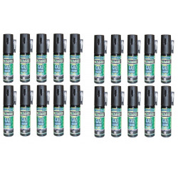 20 bombe lagrymogene gazpm antiagression aerosol de defense gaz spray paralysant cs 2% 25ml securit