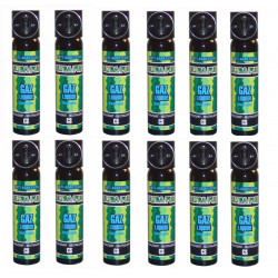 Lot de 12 aerosols défense securite police gaz paralysant cs 75ml bombe lacrymogene spray