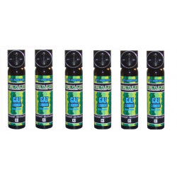 6 aerosol gas paralisante 2% 75ml gran modelo cs spray cs spray cs spray lacrimogneo gas defensa aerosoles seguridad