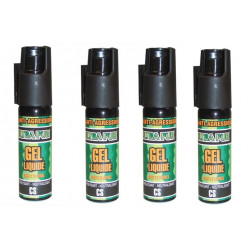 4 spray di difesa gel paralizzante cs 100 25ml modello piccolo arma da difesa cs spray bomboletta lacrimogena cs spray