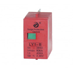 Module LY1-b replacement cartridge for lightning pfr4t1 high capacity 80kA pfr2t1 din rail