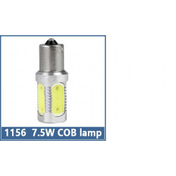 1156 ba15S s25 7.5w cob car led lamps tail brake headlight fog turn signal bulbs replace hid xenon