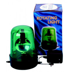 Electrical rotating light 220vac 12w green fixed rotating light (adapter included) light warning emergency lights warning light
