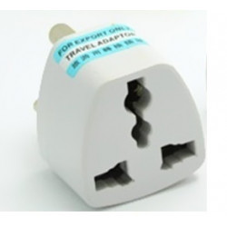 International Plug Adapter for South Africa, Lesotho, Namibia and Swaziland, Type M, 3-Pin Grounded Plug, Universal Travel Outle