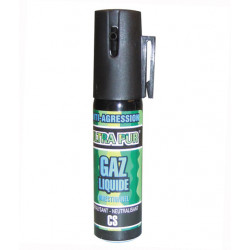 Aerosol defense gaz spray paralysant bombe lagrymogene cs 2% 25ml anti agression police securite