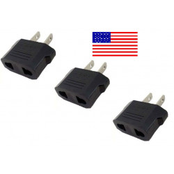 3 travel adapter plug u.s. industry canada France euro converter / japan american usa usa