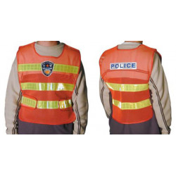 Safety jacket red yellow police service road security and safety