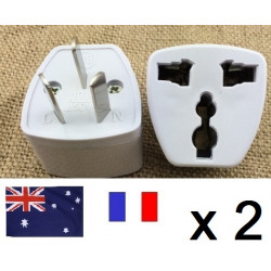 2 Travel power adapter with earth to go in china and australia new zealand