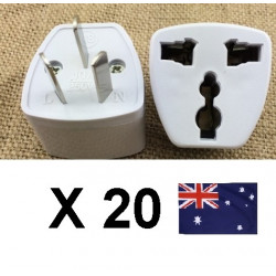 20 Travel power adapter with earth to go in china and australia new zealand