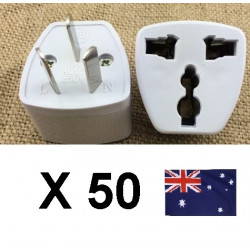 50 Travel power adapter with earth to go in china and australia new zealand