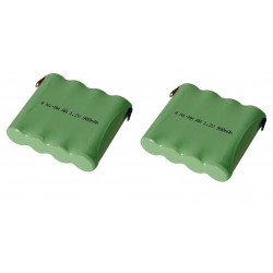 2 Ni mh pack 4.8v 900mah with solder tags