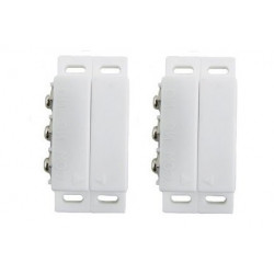 2 Detectors opening magnetic alarm surface mounting no nc magnetic contact, ivory alarm detector alarm sensor switches magnetic