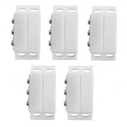 5 Detectors opening magnetic alarm surface mounting no nc magnetic contact, ivory alarm detector alarm sensor switches magnetic