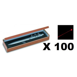 100 Ballpoint pen red laser pointer electronics lazer beam white led lamp (3 in 1) 143.1651