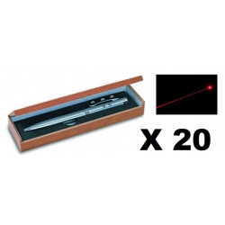20 Ballpoint pen red laser pointer electronics lazer beam white led lamp (3 in 1) 143.1651