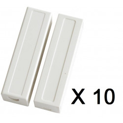 10 Detector opening sensor magnetic contact alarm contact no bs-2033a projection cream white