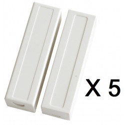 5 Detector opening sensor magnetic contact alarm contact no bs-2033a projection cream white