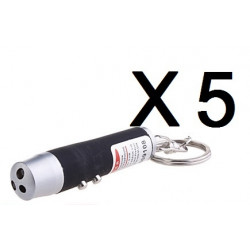 5 Laser pointer black 3 in 1 pocket uv lamp beam white light torch red 150m