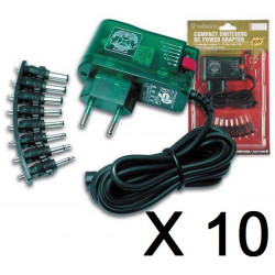 10 Compact switching power supply 10w with selectable output 3 to 12vdc
