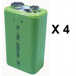 4 Rechargeable battery 8.4vdc 200ma rechargeable battery lead calcium battery rechargeable batteries rechargeable