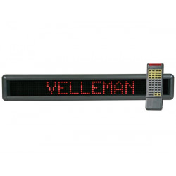 Electronic Journal bright red display with remote mml16r