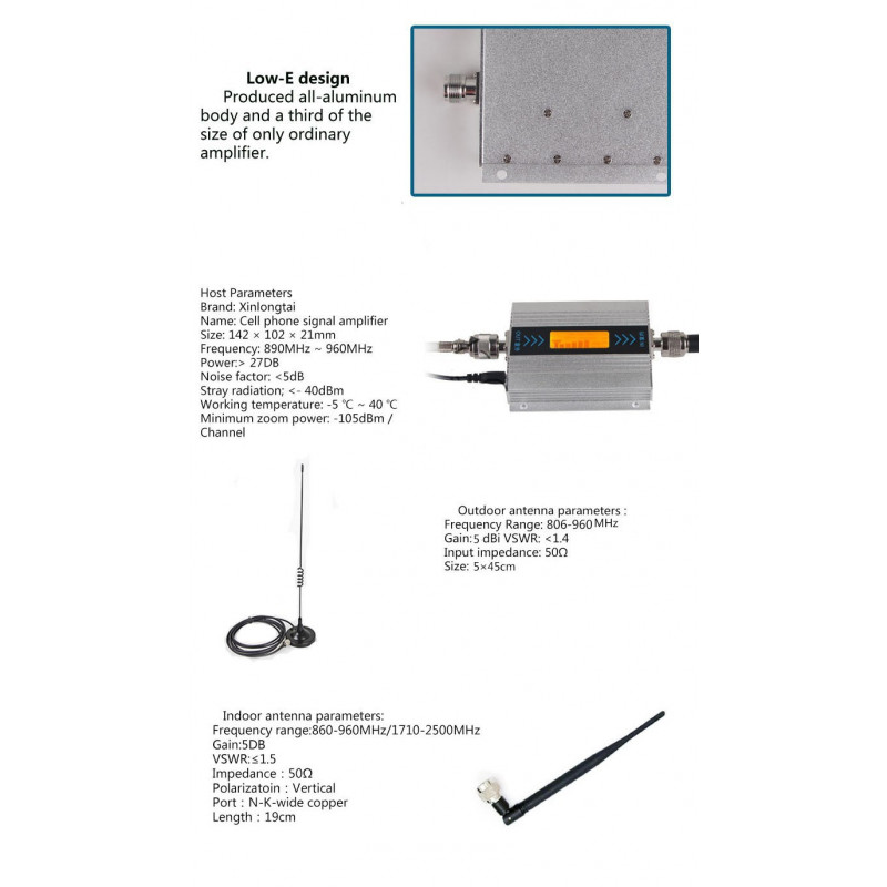 GSM 900MHZ Mobile Phone Signal Booster GSM Signal Repeater Cell