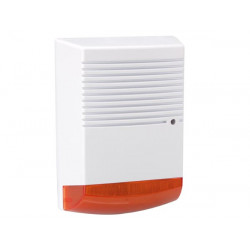 Artificial outdoor siren with flashing red LED ip44 hamd1