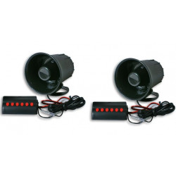 2 American police siren 12v electronic 6 sounds usa fbi boat ambulance fire truck horn us