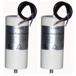2 Capacitor 50.0uf  450 v + cable cbb60