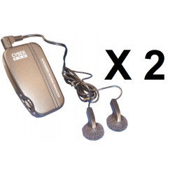 2 Amplifier ambient electronic sound sound amplifier with two auricles discrete electronic remote listening discrete rem