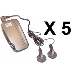5 Amplifier ambient electronic sound sound amplifier with two auricles discrete electronic remote listening discrete rem
