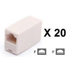 20 Electric extension cable adapter coupler 8p8c female female rj45 join rj45 rj45 electric extension cable electric extension c