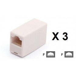 3 Electric extension cable adapter coupler 8p8c female female rj45 join rj45 rj45 electric extension cable electric extension ca