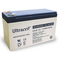 Batterie 12v 9ah accu rechargeable ul9-12 faston 6.35mm 8ah 6-dzm-6 velo scooter accu plomb gel