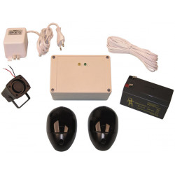 Pack infrared cell 7/10m 12v + battery + power supply and siren