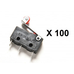 100 Contact autoprotection 5a sous 220v levier kw12-3 micro switch interrupteur