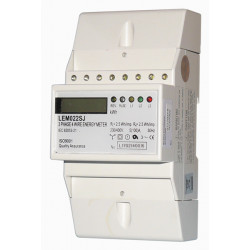 Kwh meter three phase four wire 100a din rail mounting