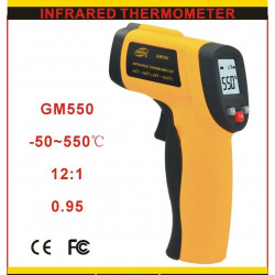 Thermometre infrarouge visee laser -50°c 550°c gm550 temperature afficheur lcd deperdition chaleur