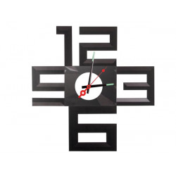 Silent polypropylene adhesive wall clock with battery