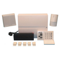 Pack evolutionary wired wireless keyboard + battery + central + infrared detector + siren