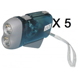 5 X 2 led dynamo flashlight without battery charging some pressure innovaley